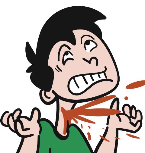 bleeding neck